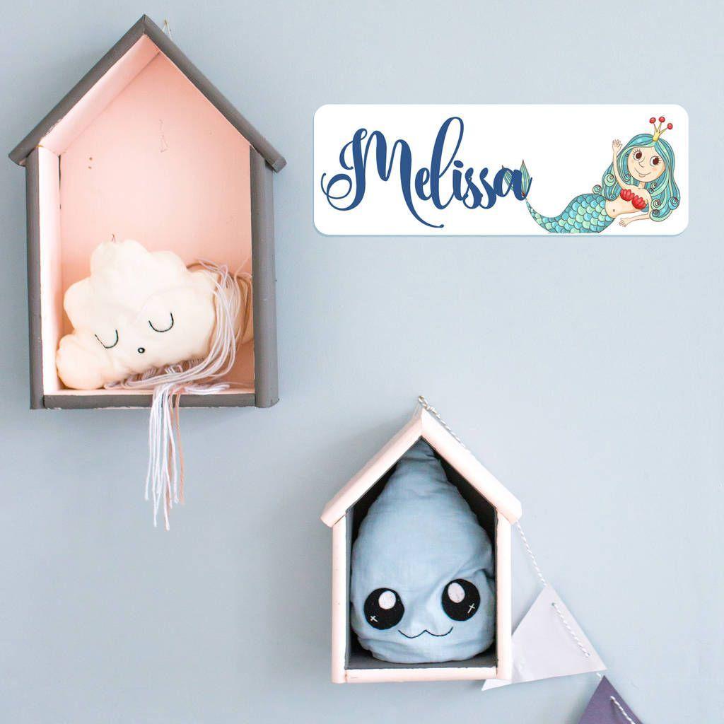 Personalised Mermaid Bedroom Door Plaque #mermaidbedroom Personalised Mermaid Bedroom Door Plaque #mermaidbedroom