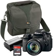 Canon EOS 70D 20.2MP Digital SLR Camera with 18-135mm Lens, Free Bag, Free Battery & Free 32GB Memory Card