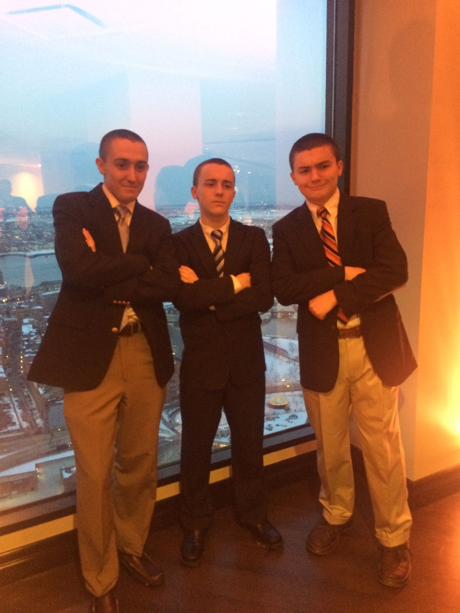 The Hines boys (left to right): Zak (21), Jonny (14), and Tyler (16) at our cousin's wedding in March 2015. We can suit up with the best of 'em!
