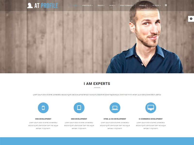 At Profile Is Free Joomla Cv Resume Template Tailored For Cv Profile Websites This Template Helps You Display Cv Resume Template Cv Profile Resume Template