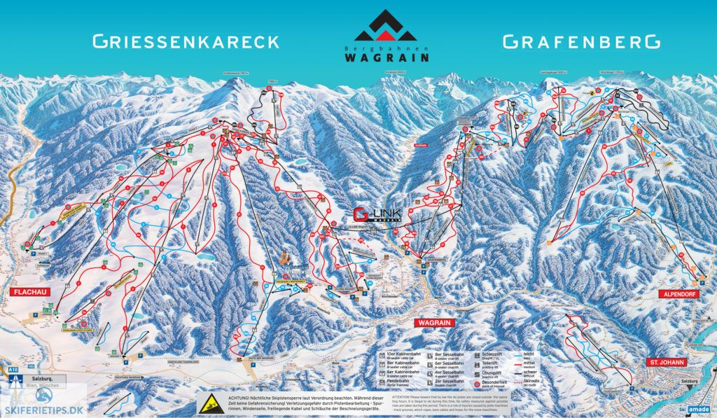 Wagrain Piste Map High Resolution Jpeg Skiamade Wagrain