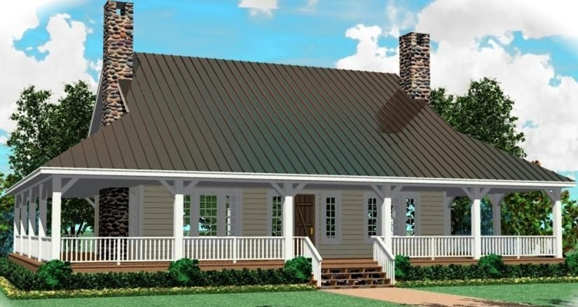653630 great raised cottage with wrap around porch and open floor plan house - House Plans With Porches