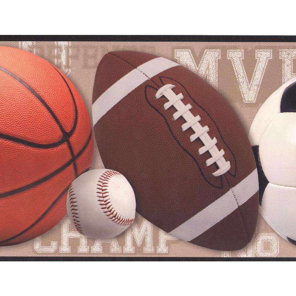 York Wallcoverings Football Basketball Baseball Soccer