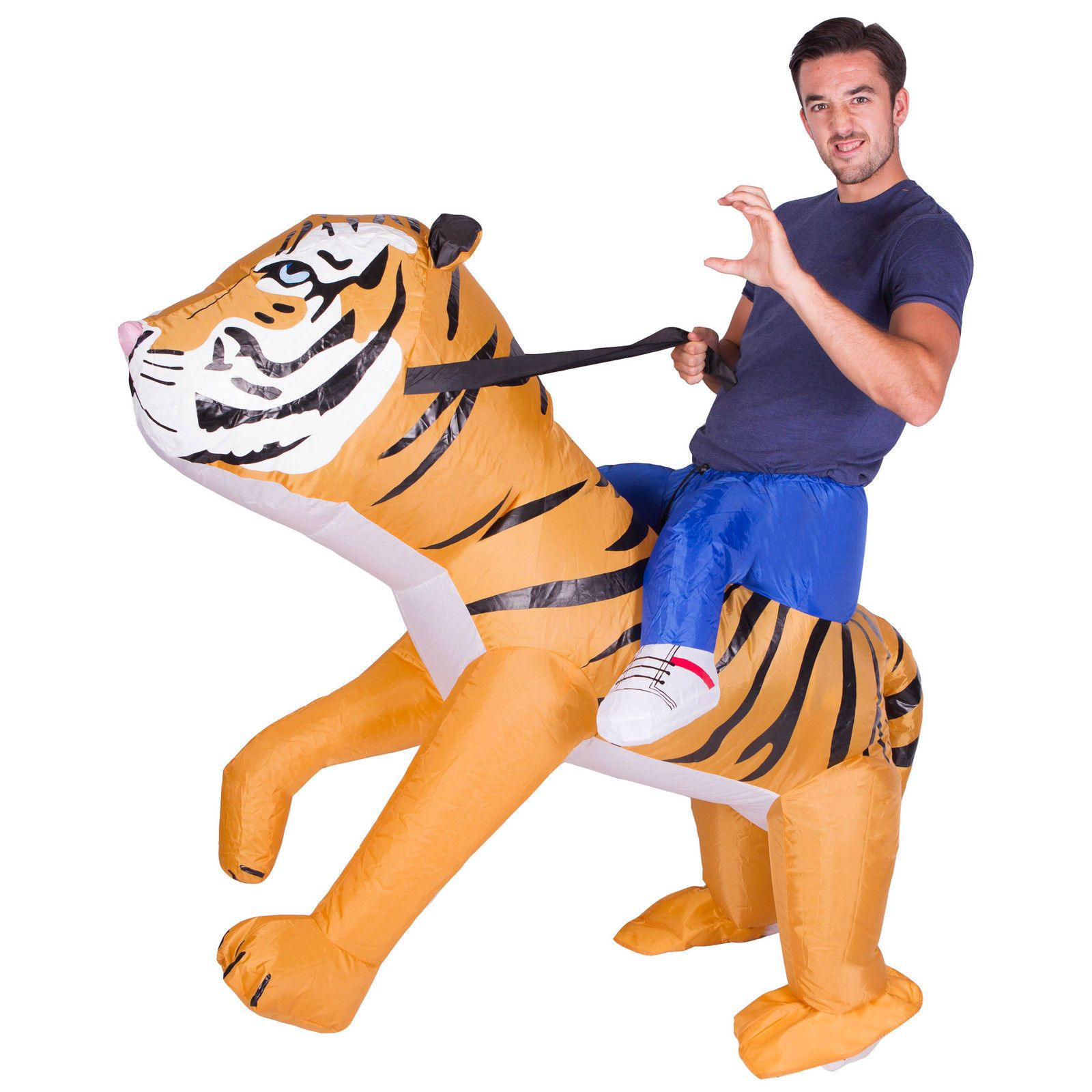 Adult Funny Inflatable Animal Tiger Fancy Dress Costume