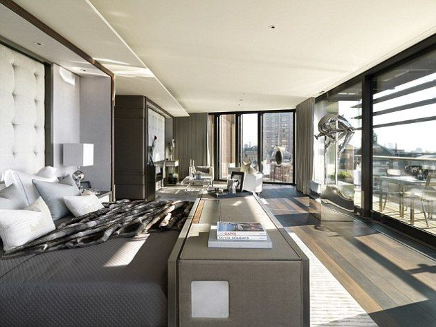 The Penthouse London One Hyde Park Bedroom Luxury