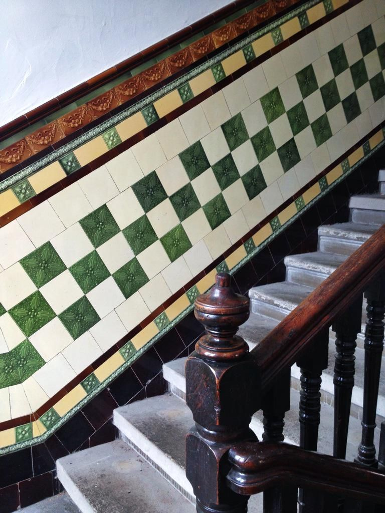 Southside Of Glasgow Tenement Tile Wallyclose Vintage Interior