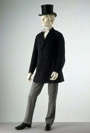 En 1870 los hombres usaban abrigos y chaquetas semi-ajustadas 1485397a1893