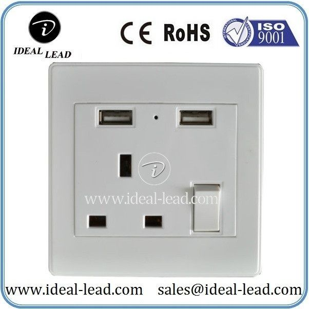 Nigeria India 3 Pin Wall Switch and Socket Plug with 2 USB | usb ...