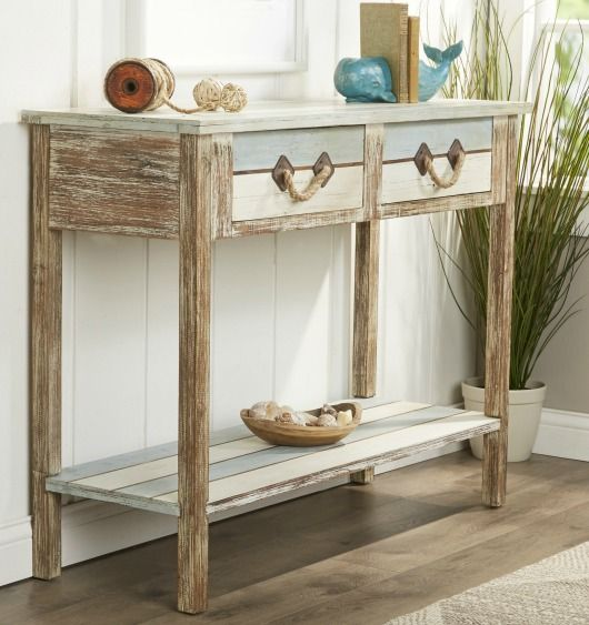 coastal console tables coastal furniture pinterest coastal rh pinterest com coastal farmhouse sofa table Sofa Table Ana White