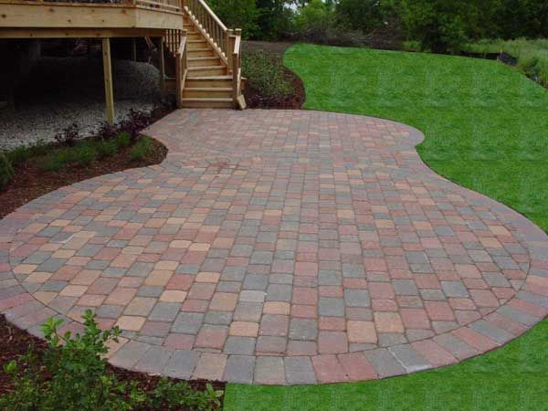 Patio: Brick Patio With Chairs And Vases Decorate The Beautiful Surrounded By Trees Flower from Consider These Brick Patterns Ideas For Your Brick Patio Designs