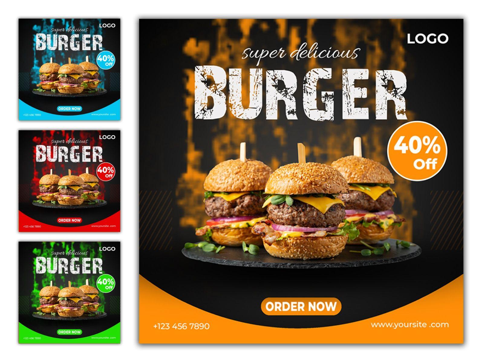 Burger Social Media Post In 2021 Social Media Post Social Media Burger