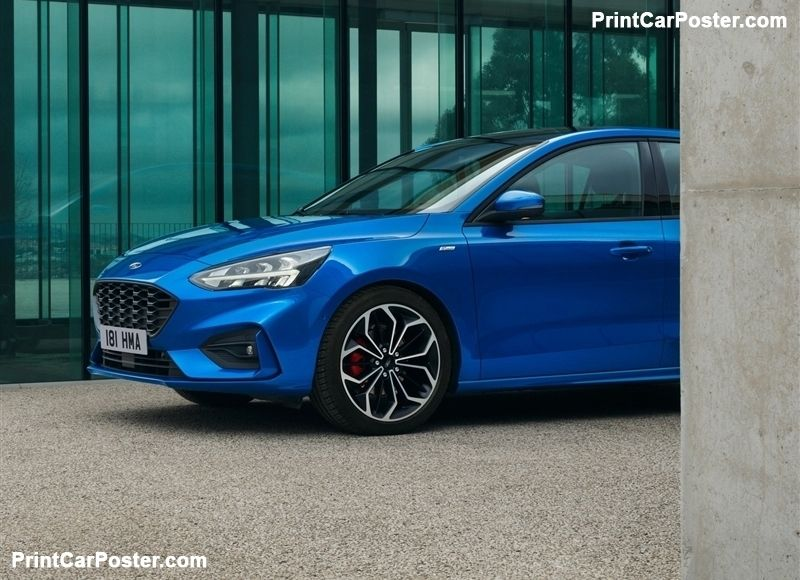 Ford Focus St Line 2019 Poster Autos