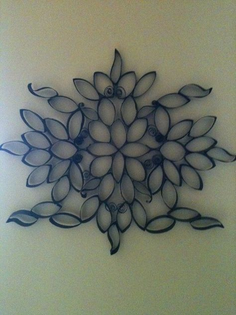 The secret to this intricate wall art its made from toilet paper 25 creative diy toilet paper roll wall art mightylinksfo