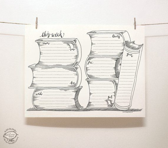 DOODLE Perpetual Weekly Planner Organizer Books
