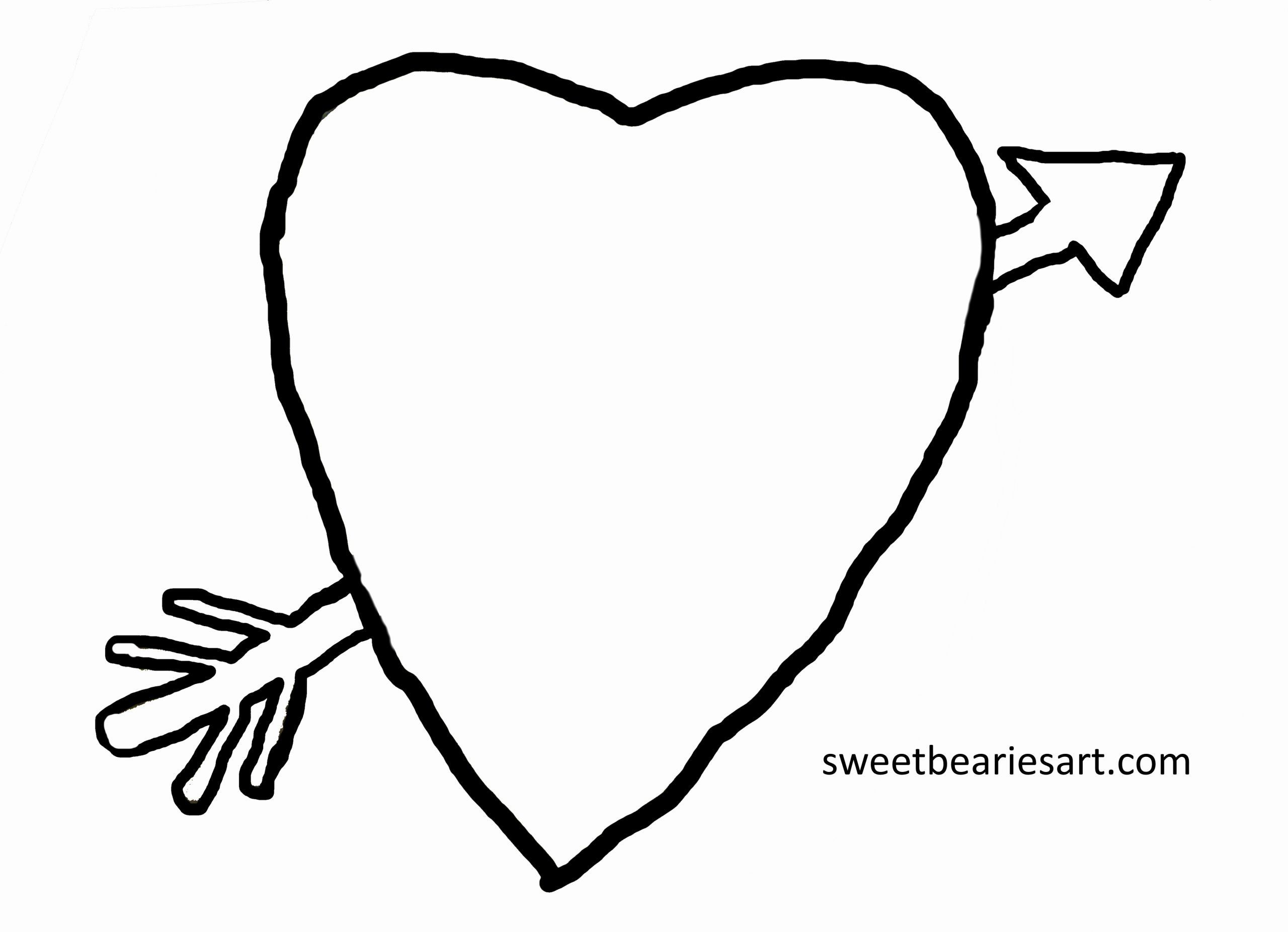 Hearts With Arrows Coloring Pages Inspirational Heart And Arrow Coloring Page Sweetbearies Art Tips Heart With Arrow Coloring Pages Heart Coloring Pages
