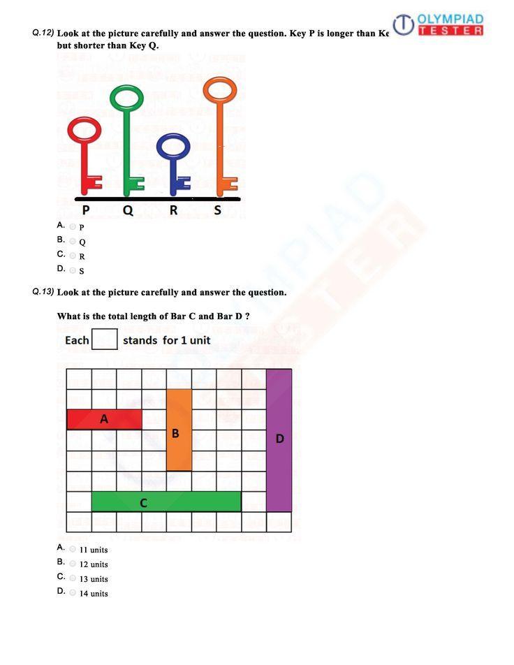 Download International Mathematics Olympiad Imo Class 1 Sample