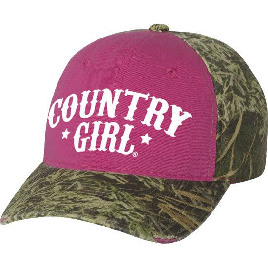 Women's Country Girl® Arched Stars Camo Cap
