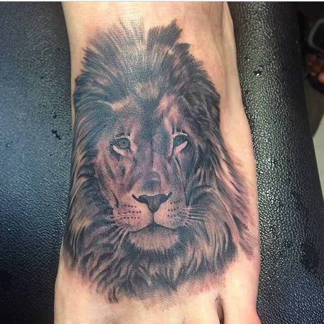 dd82f2ba9 Gotta be strong as a lion. Foot tattoo | Tattoo work | Feet tattoos ...