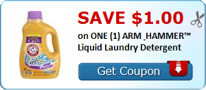 1 00 Off One Arm Hammer Liquid Laundry Detergent Reset