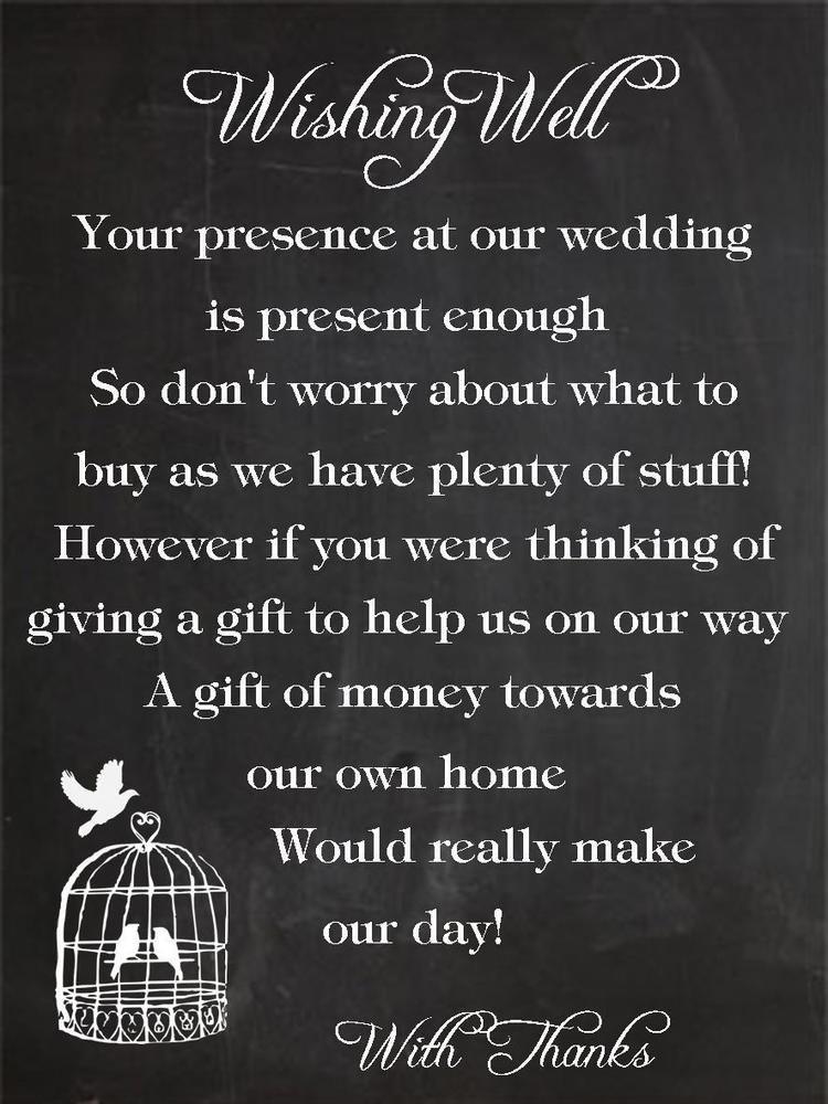 50 x Wishing Well Cards birdcage chalkboard Wedding