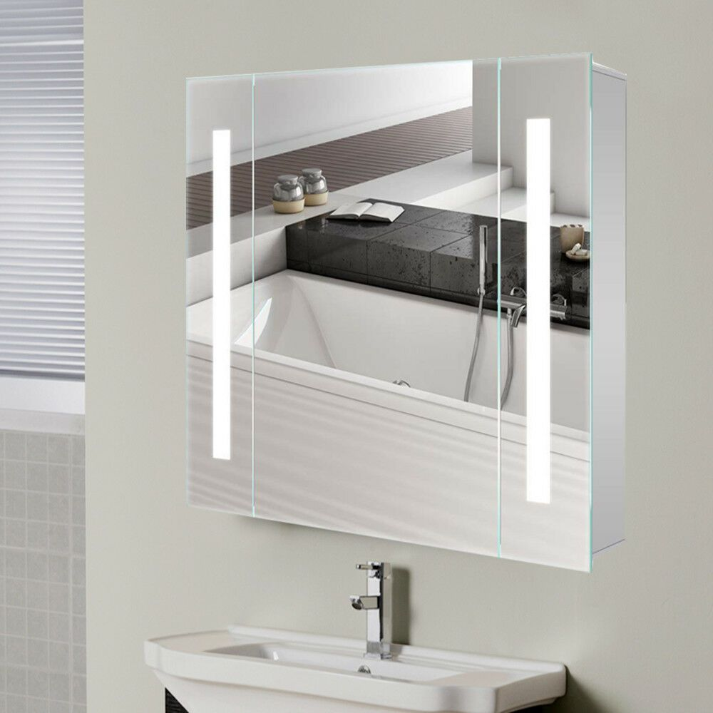 Led Bathroom Cabinets With Shaver Socket Mirror Cabinets