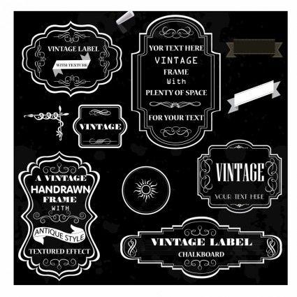 Vintage Chalk Frames Creperia Disenos De Unas Invitaciones