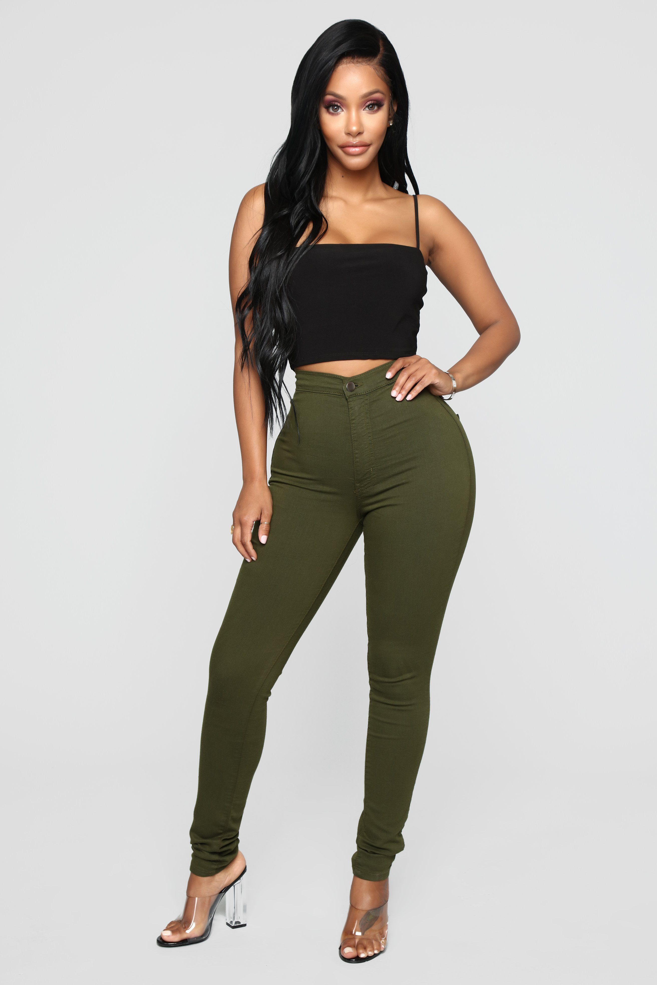 397cbd5e172c Perfectly Classic Jeans - Olive in 2019 | My Closet | High waist ...