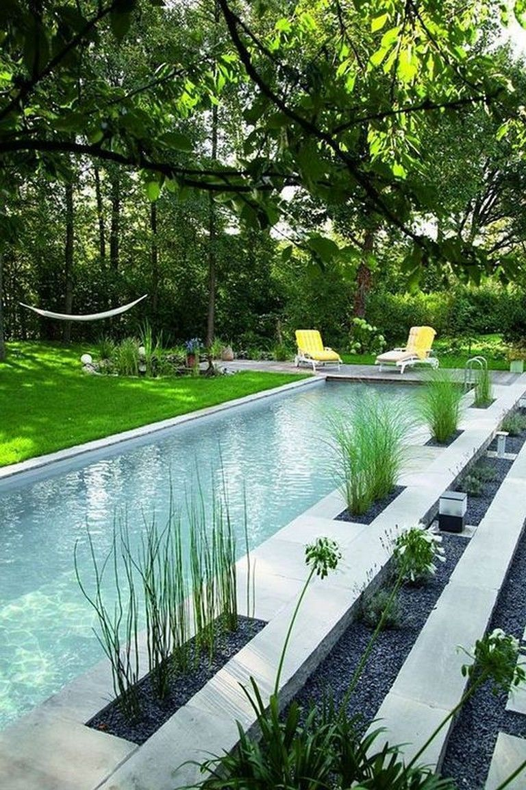 Photo of swimming pool backyard – Having a pool surrounded by trees would certainly give …