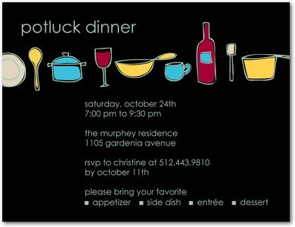 Potluck party invitation party invites pinterest party potluck party invitation stopboris Choice Image