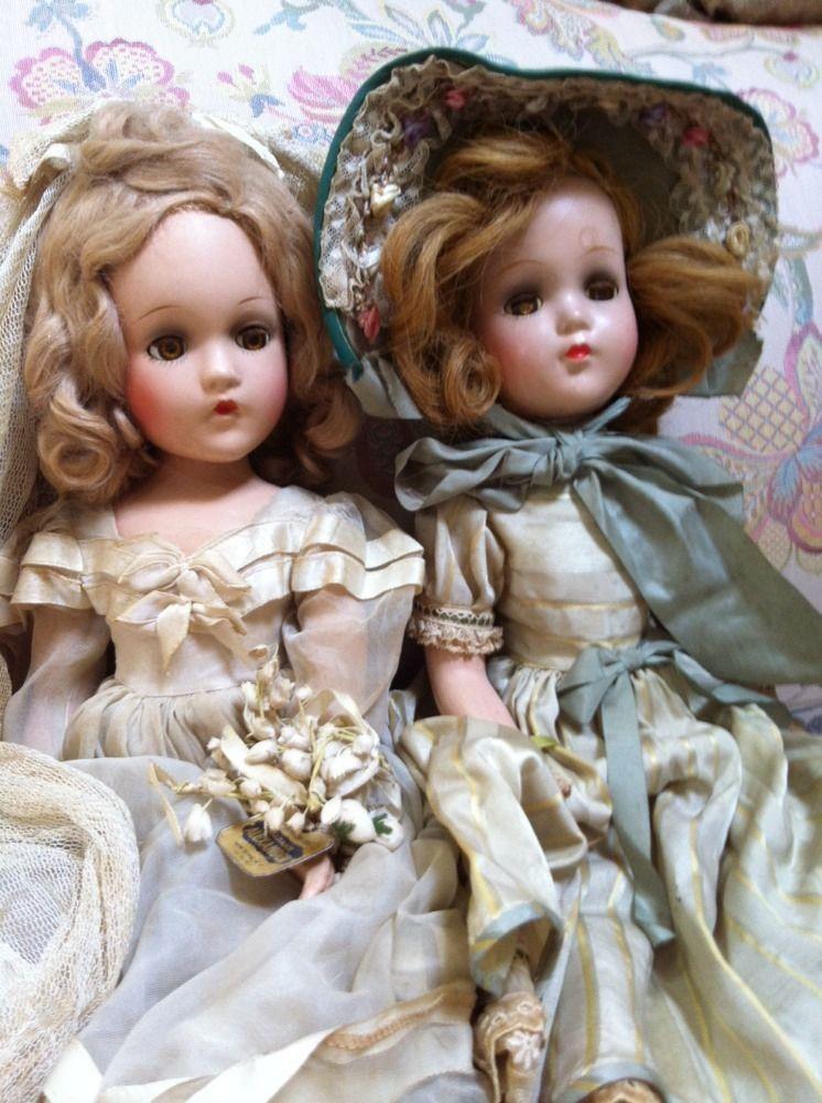 "Madame alexander 18"" Wendy Ann?  Doll and 18"" Nancy Lee (R&B) Southern Belle ? D #Dolls"