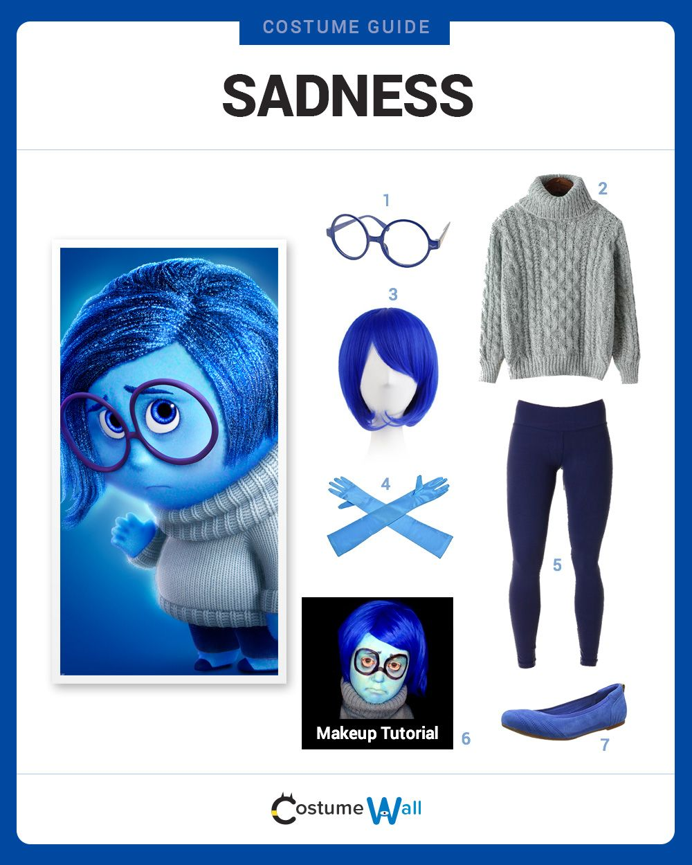 Joy Deluxe Inside Out Disney Pixar Fancy Dress Up Halloween Child Costume