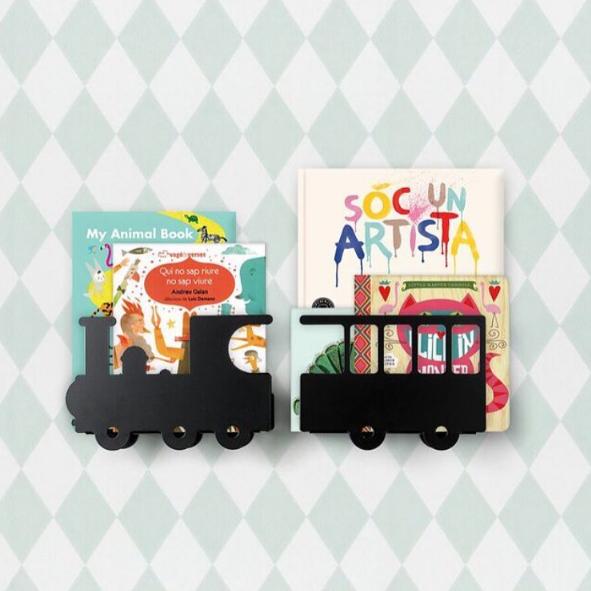 Estanter a infantil en forma de tren para libros minimoi bubztrain pinterest shelves - Estanteria libros infantil ...