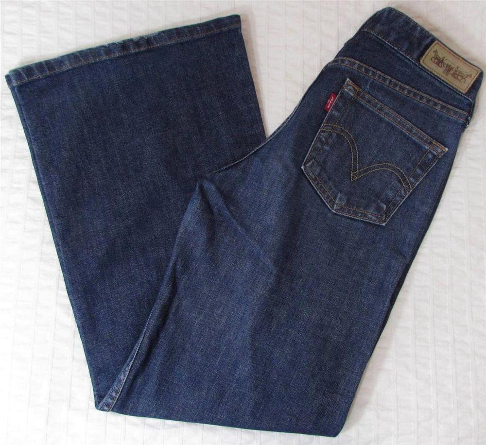 accfe7a0087a2 Women Levis Levi's 575 Jeans Boot Cut Flare 2 Horses Logo sz 25 X 29 EUC # Levis #Flare