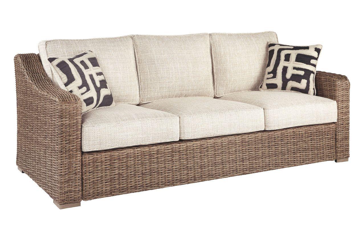 Beachcroft Sofa with Cushion   Ashley Furniture HomeStore ... on Beachcroft Beige Outdoor Living Room Set id=11438
