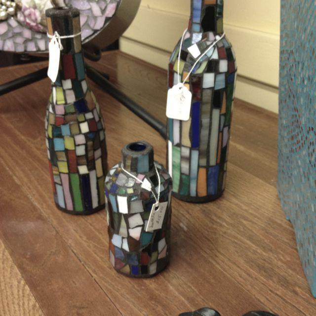 Mosaic bottles, gotta make these!