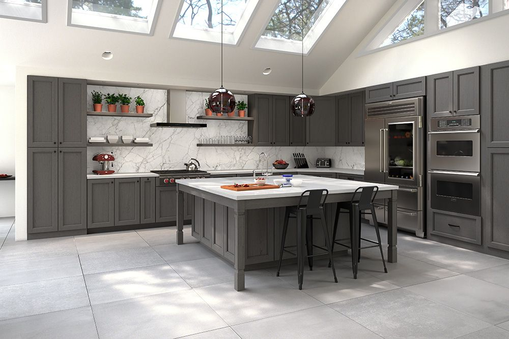 Midtown Gray Rta Ready To Emble Kitchen Cabinets Online