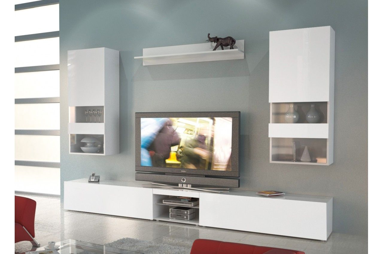 Meuble Tv Contemporain Romeo Cbc Meubles Salon Pinterest  # Deco Ensemble De Meuble Salon