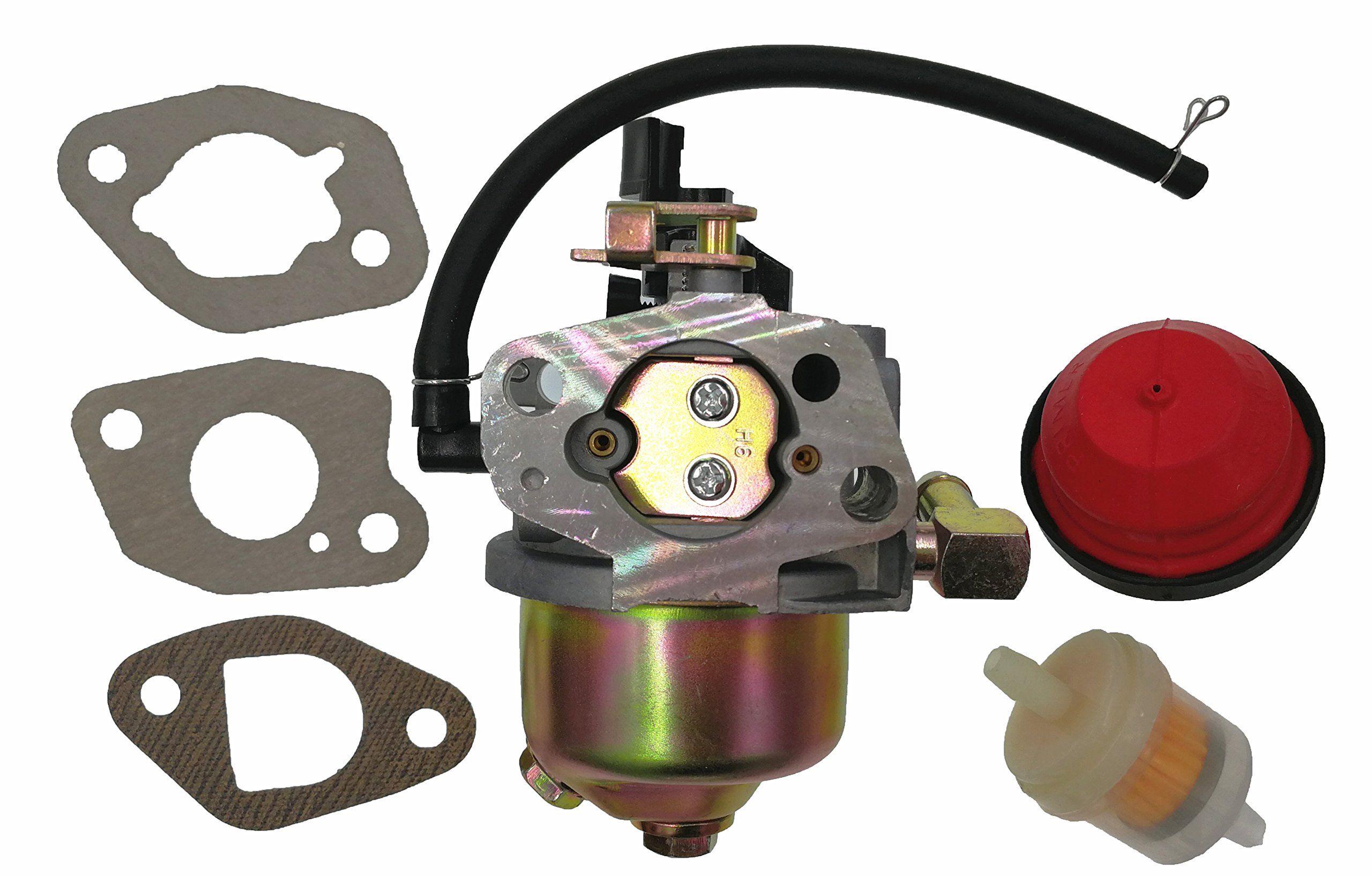 carburetor with primer bulb fuel filter for mtd troy bilt cub cadet snow blower 95110974  [ 2560 x 1634 Pixel ]