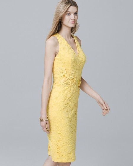 Womens 3d Applique Lace Sheath Dress By White House Black Market In
