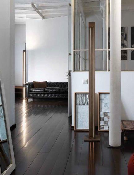 Lámpara de Suelo Led con 2 Fuentes de Luz | Diseño para salones, LED ...