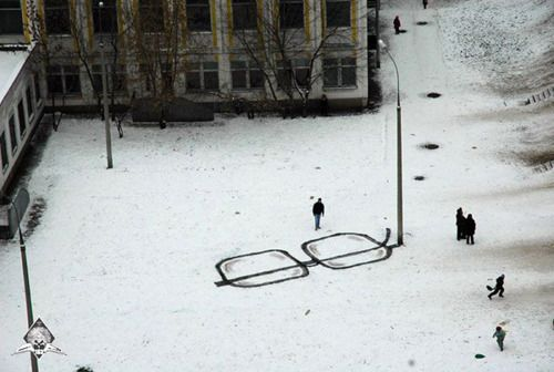 Creative Street Art by Pavel Puhov From a street lamp to glasses