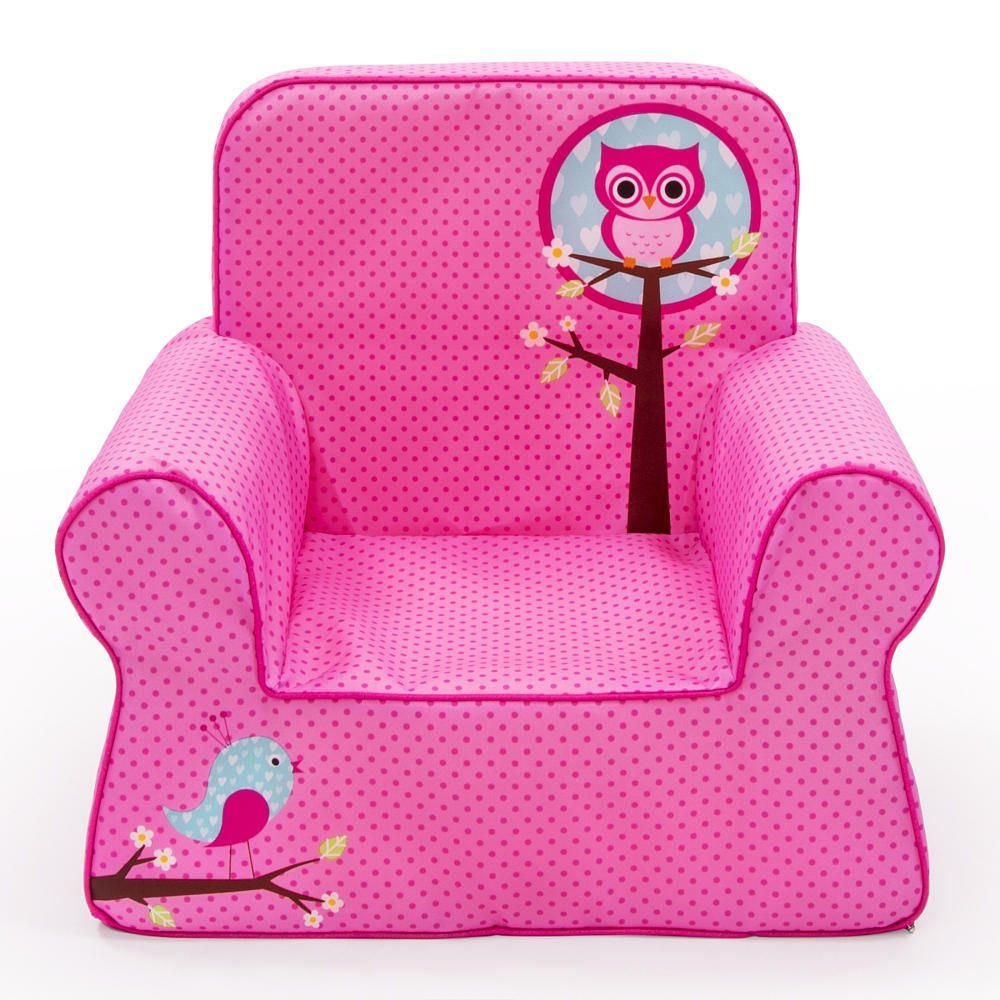Perfect Marshmallow Comfy Chair   Pink Owl