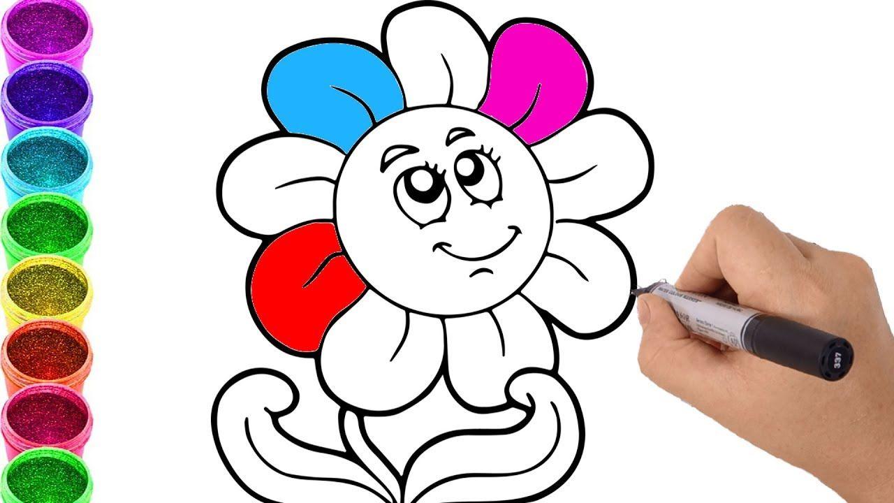 Como Dibujar y Colorear Una Flor de Arco Iris - Dibujos Para Niños ...