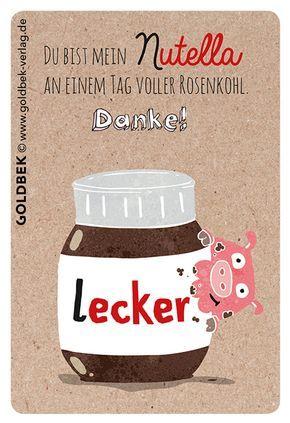Postkarten - Du bist mein Nutella an einem Tag voller Rosenkohl.