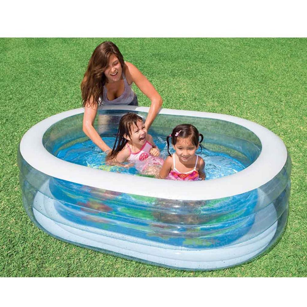 Deep Small Baby Pool Portable Inflatable Children Kids Swimming