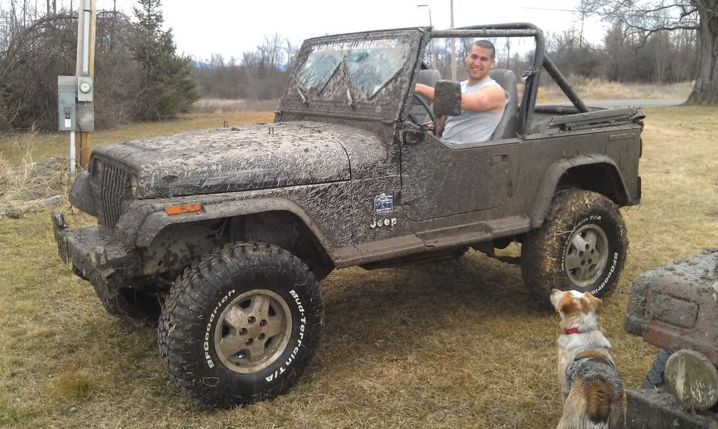 My Black Yj Is 4in Rc Lift And 33in Bfg Mud Terrains With Some