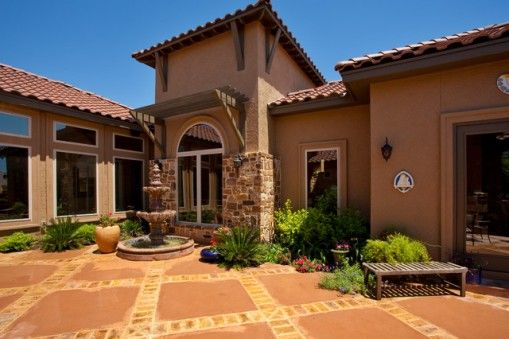 Small tuscan style homes ideas for Tuscan home exterior
