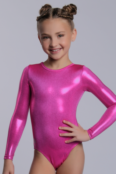 0e4ce41f29af Sylvia P - Womens Leotards - Long Sleeve - Hot Pink Mystique LS ...