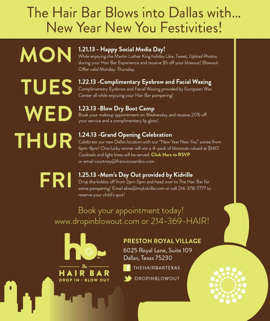 The Hair Bar Blows into 19 With a Week of Festivities  Salon