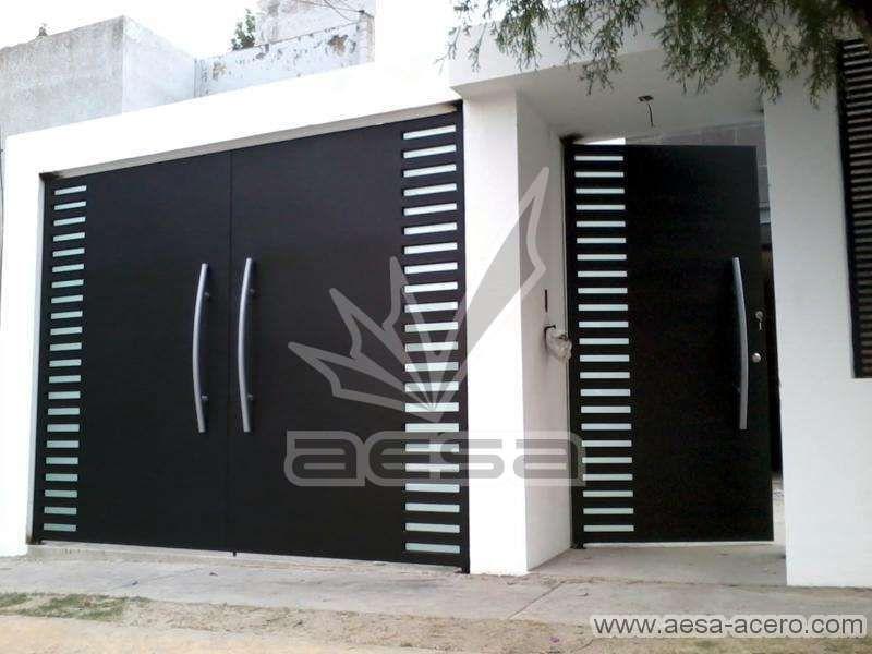 Portones De Herreria Pagina 5 Casas Puertas De Garaje Entrada De Casas Modernas